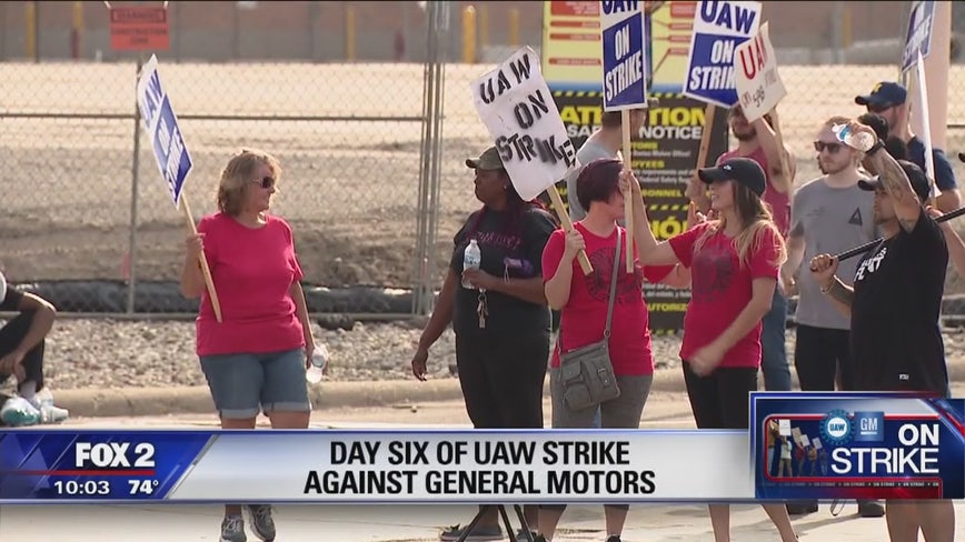 Day 6 of UAW strike against General Motors