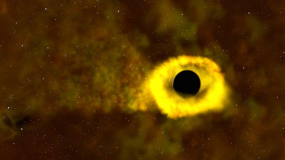 An image of a tidal disruption event called ASASSN-19bt taken by NASA's Transiting Exoplanet Survey Satellite (TESS) and Swift missions.