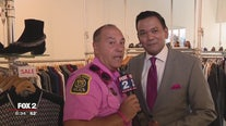 The only thing hotter than this officer's pink is the campaign he's raising money for