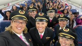 Delta flies 120 girls to NASA with all-women crew in bid to inspire female aviators