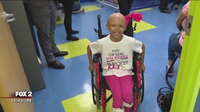 6-year-old cheerleader fighting cancer, inspiring others with her battle