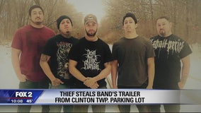 Metal band has vehicle and trailer of equipment stolen in Clinton Township