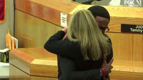 'I love you as a person': Botham Jean's brother hugs Amber Guyger after she gets 10 years in prison