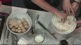 Making homemade donut holes with Jill of All Trades