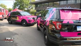 Southfield police, fire go pink for battle against breast cancer