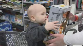 'Find the joy': 2-year-old leukemia survivor surprised with shopping spree