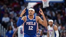 Tobias Harris returns to lead 76ers over Pistons