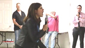 Gun control town hall at firing range erupts as tempers flare
