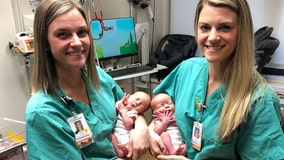 Identical twin nurses help deliver identical twin babies at same hospital where they were born