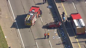 WB I-94 closed after Outer Dr for rollover crash