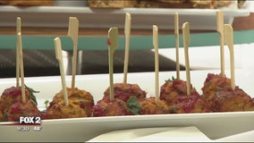 Chef Kelli prepares pumpkin-inspired meatballs, brie, hummus, flatbread and martinis