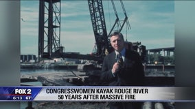 Michigan congresswomen Dingell and Tlaib paddle Rouge River on 50th anniversary of fire