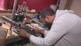Any item bought from this leather-maker comes with the name and story of the Detroit vet who made it