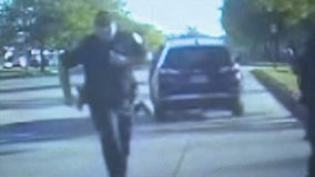 Pulled over for shoplifting, a woman fled Oak Park police and dragged an officer with her