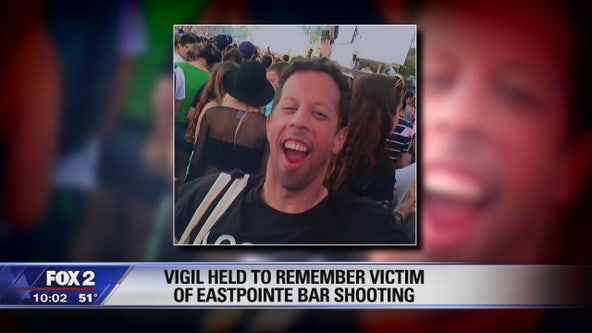 Vigil held to remember victim of Eastpointe bar shooting
