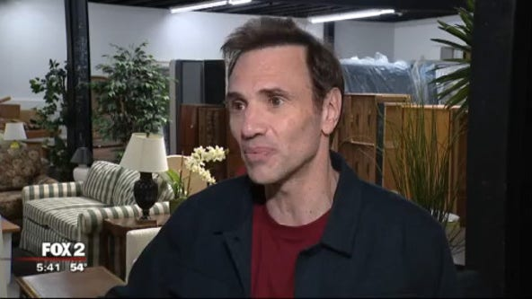 Comedian Paul Mercurio in Detroit raising money for the Furniture donation bank