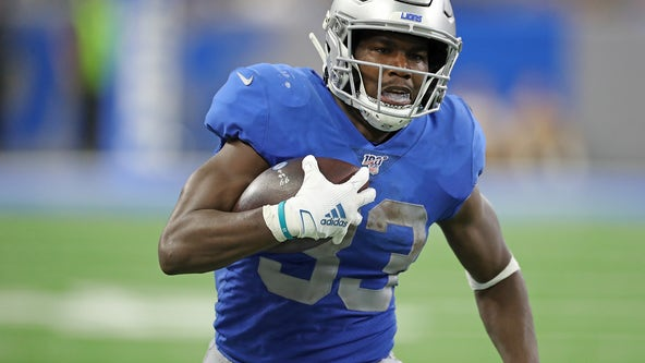 Lions RB Kerryon Johnson headed to Injured Reserve after knee surgery