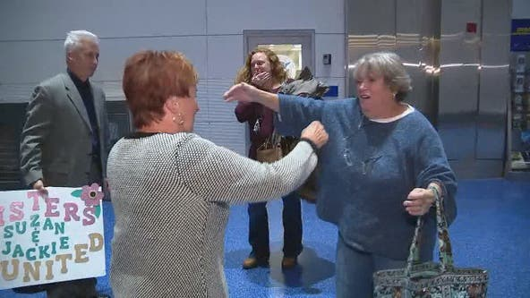 Reunited: Sisters discover each other through DNA test and meet for first time in 75 years