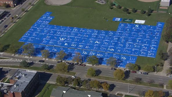 World's largest periodic table made at Wayne State University