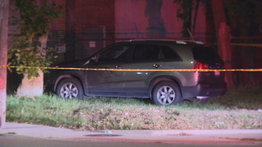 Man found shot to death in SUV near field on Detroit's east side