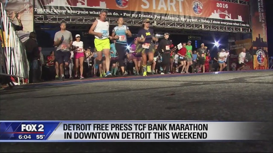 20,000 runners will descend on Detroit this weekend for the Free Press marathon