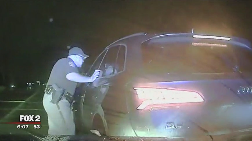Shelby Township woman backs into the squad car after traffic stop for hit-and-run