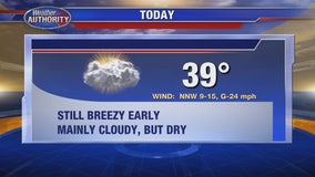 Cloudy and Cool, but Dry for Thanksgiving