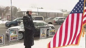 Navy vet salutes traffic on Veterans Day in Taylor to honor those who have served