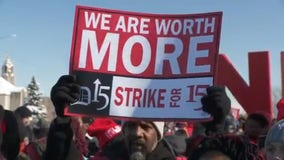Fight for 15 protesters outside east side McDonald's shuts down Outer Drive