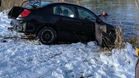 Car goes into Lyon Township pond after remote start malfunction