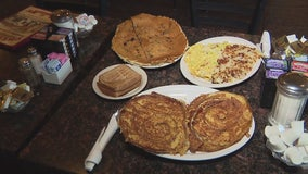 Cheryl's in Brighton serves up some of the largest pancakes we've ever seen