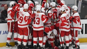Cholowski scores in OT, Red Wings rally past Ducks