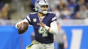 Cowboys get huge day from Prescott, beat Lions