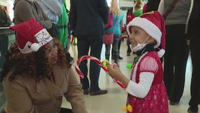 Santa's helper collecting donations for 80 sick children taken on trip to North Pole