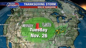 Two big storms could threaten Thanksgiving flights, travel next week