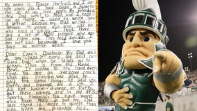 'Love you guys no matter what': 9-year-old writes heartfelt letter to MSU football team