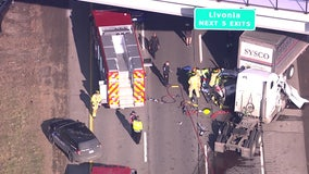 Northbound 275 reopened at Ford Road after crash between semis, SUV