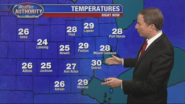 Snowfall tapering off, lower temperatures incoming