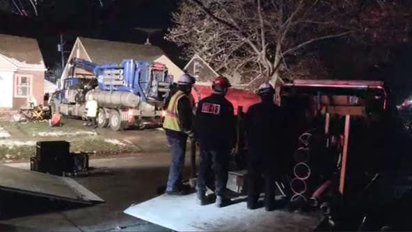Man trapped in collapsed trench broke leg, suffered hypothermia before being saved