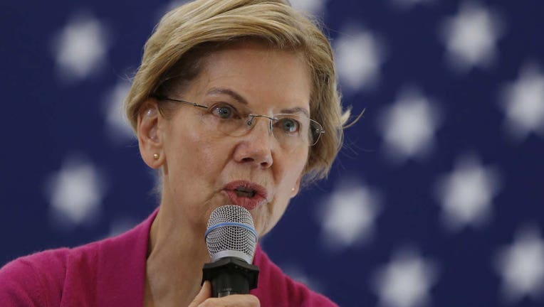 U.S. Senator and presidential candidate Elizabeth Warren speaks during a town hall at the University of New Hampshire in Durham, NH on Oct. 30, 2019. (Photo by Jessica Rinaldi/The Boston Globe via Getty Images)