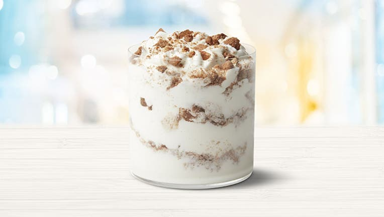 Mickey D's announced it is keeping dessert menus delightful as the weather gets frightful in the weeks ahead with the addition of the new Snickerdoodle McFlurry, pictured. (McDonald's)