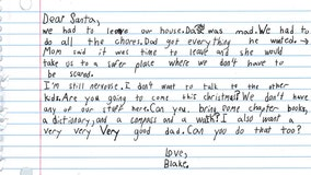 7-year-old boy in domestic violence shelter writes heartbreaking letter to Santa