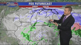 Some showers, flakes up north