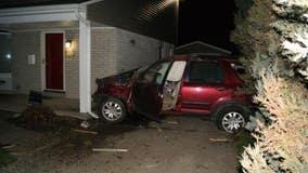 Man carjacks woman at gas station, crashes car into Royal Oak house