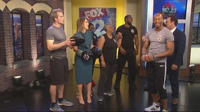 The crew from the Nine gets into boxing