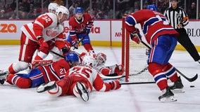 Bernier makes 42 saves, Red Wings beat Canadiens