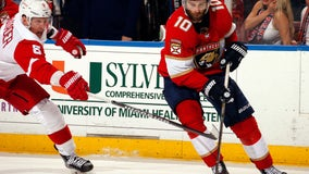 Hoffman has goal and 2 assists, Panthers beat Red Wings