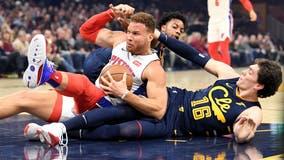 Griffin, Pistons pound Cavs 127-94