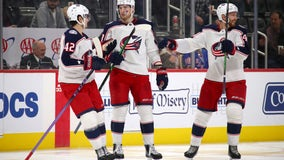 Dubois' goal in 3rd helps Blue Jackets beat Red Wings