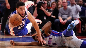 76ers roll to 125-109 win over Pistons